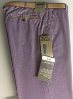 Lilac FAIRTRADE Cotton Blend Chino by Meyer - Style New York 1-5001/57